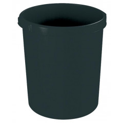 Papiermand Han 30l rond plastic zwart