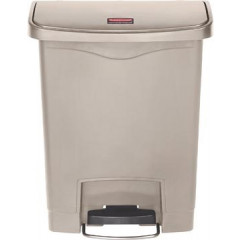 Vuilniscontainer Rubbermaid Slim Jim Front Step 30l beige