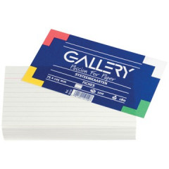 Systeemkaart Gallery 7,5x12,5cm 180g gelijnd wit (100)