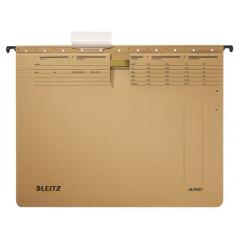 Hangmap Leitz Alpha karton A4 lade 330mm V-bodem met hechtstrip natuurbruin (25)