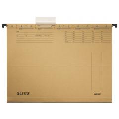 Hangmap Leitz Alpha karton A4 lade 330mm V-bodem natuurbruin (25)