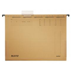 Hangmap Leitz Alpha karton A4 lade 330mm V-bodem met balg natuurbruin (25)