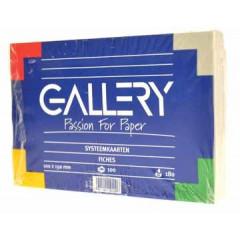 Systeemkaart Gallery 10x15cm 180g blanco wit (100)