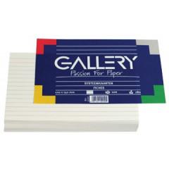 Systeemkaart Gallery 10x15cm 180g gelijnd wit (120)