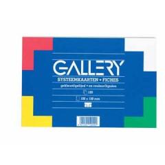 Systeemkaart Gallery 10x15cm 180g gelijnd assorti (120)