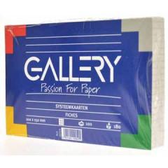Systeemkaart Gallery 10x15cm 180g geruit wit (100)