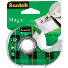 Plakbandafroller Scotch magic 19mm x 25m inclusief rol blister