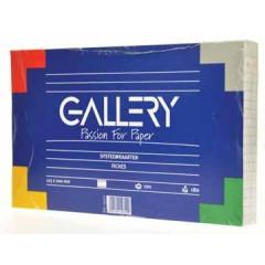 Systeemkaart Gallery 12,5x20cm 180g gelijnd wit (100)