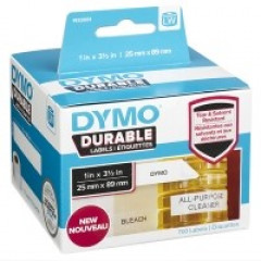 Dymo LW duurzame labels 25x89mm wit (700)