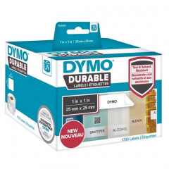 Dymo LW duurzame labels 25x25mm wit (1700)
