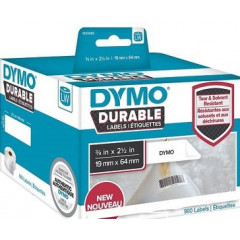 Dymo LW duurzame labels 19x64mm wit (900)
