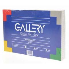 Systeemkaart Gallery 12,5x20cm 180g geruit wit (100)