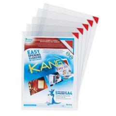 Ophangtas L-map Tarifold A4 PVC kang easy clic rode hoek (5)