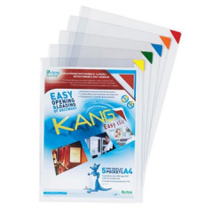 Ophangtas L-map Tarifold A4 PVC kang easy clic assorti hoek (5)