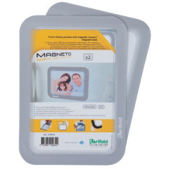 Ophangtas Tarifold A6 PVC magnetische rug zilver (5)