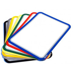 Ophangtas Tarifold A4 PVC magnetische strips rood (2)