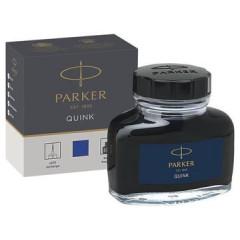Inktpot Parker Quink permanent blauw 57ml