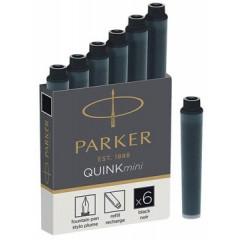 Inktpatroon Parker Quink Mini zwart (6)