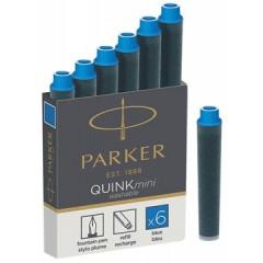 Inktpatroon Parker Quink Mini blauw (6)