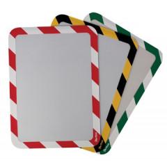Ophangtas Tarifold A3 PVC magnetische strips geel/zwart (2)