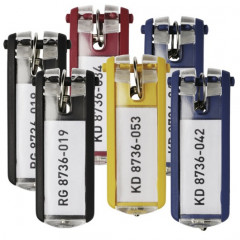 Sleutelhanger Durable Key Clip assorti (6)