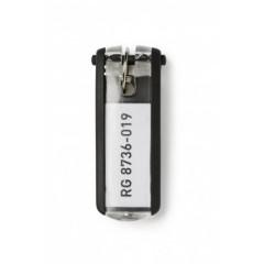 Sleutelhanger Durable Key Clip zwart (6) (D195701)