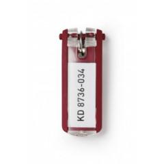 Sleutelhanger Durable Key Clip rood (6) (D195703)