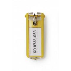 Sleutelhanger Durable Key Clip geel (6) (D195704)