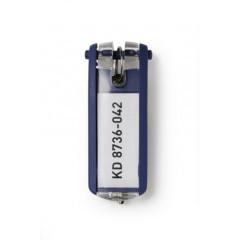 Sleutelhanger Durable Key Clip blauw (6)(D195707)