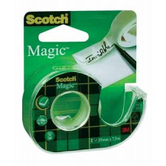 Plakbandafroller Scotch Magic 19mm x 7,5m inclusief rol blister