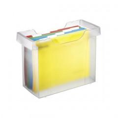 Hangmappencassette Leitz Plus ophangmaat 330mm transparant incl 5 hangmappen