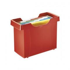 Hangmappencassette Leitz Plus ophangmaat 330mm rood incl 5 hangmappen