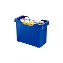 Hangmappencassette Leitz Plus ophangmaat 330mm blauw incl 5 hangmappen