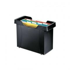 Hangmappencassette Leitz Plus ophangmaat 330mm zwart incl 5 hangmappen