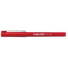 Fineliner Artline 200 0,4mm rood
