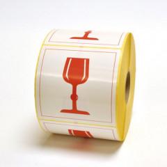 Zelfklevend etiket (breekbaar) 10 x 10cm (1000)