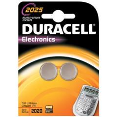 Knoopcelbatterij Duracell CR2025 3V (2)