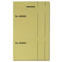 Kelnerboekje 10x14cm dubbel geperforeerd 1-100 geel