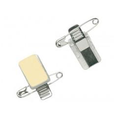 Clip voor badge combiklem pin+grip zelfklevend metaal (100)