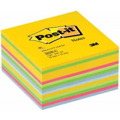 Memoblok Post-it 76x76mm assorti ultra