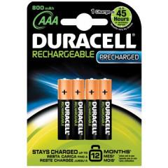 Batterij Duracell recharged ultra oplaadbaar AAA (4)