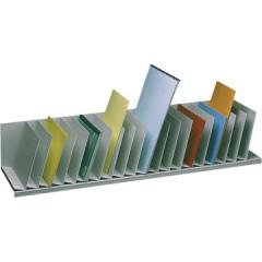 Sorteervak Paperflow met vaste tussenschotten 20-vaks grijs