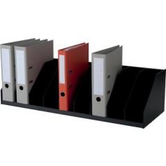 Paperflow sorteervak met vaste tussenschotten, 10 vak, br:89,7cm, zwart