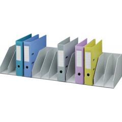 Sorteervak Paperflow met vaste tussenschotten 13-vaks grijs