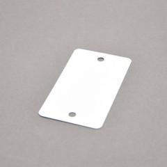 Hangkaart metaal 100x55mm wit 2 gaatjes (1000)