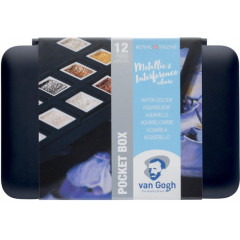 Aquarelverf Van Gogh pocketbox met 12 napjes assorti metallic en interference (12)
