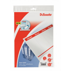 Rugetiket Esselte zelfklevend papier 80g kort breed printbaar wit (40)