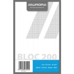 Kladblok Aurora A5 13,5x21cm geruit 200 vel