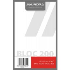Kladblok Aurora A5 13,5x21cm blanco 200 vel