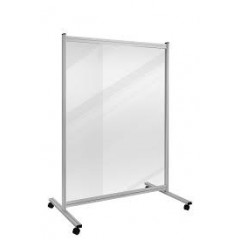 Scheidingswand Legamaster Economy 150x120cm transparant